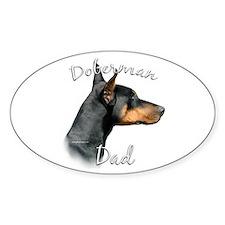 Dobie Dad2 Oval Decal