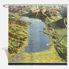Cool Schweiz Shower Curtain