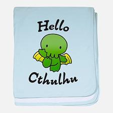 Hello cthulhu baby blanket