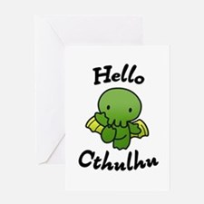 Hello cthulhu Greeting Cards