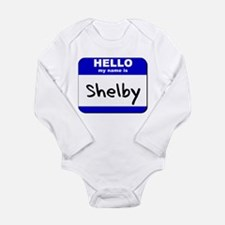 Cute Mustang shelby Long Sleeve Infant Bodysuit