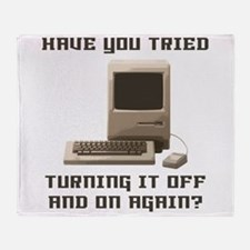 Turning it off and on again Throw Blanket