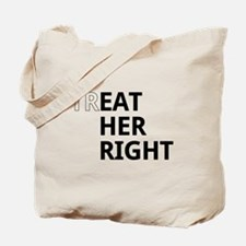Funny Eat right Tote Bag