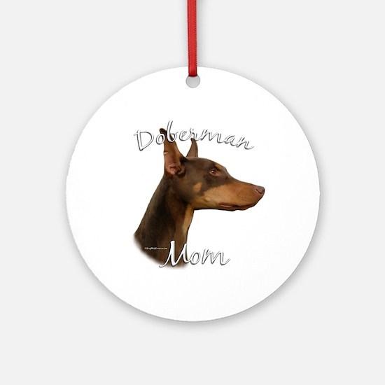 Dobie Mom2 Ornament (Round)