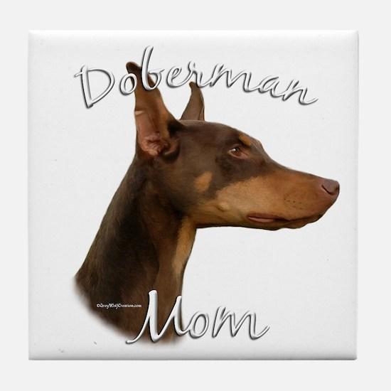 Dobie Mom2 Tile Coaster