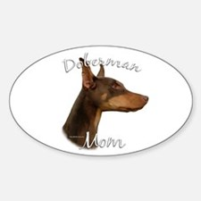 Dobie Mom2 Oval Decal