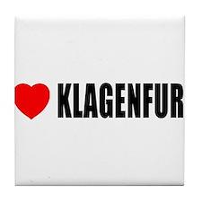 I Love Klagenfurt, Austria Tile Coaster