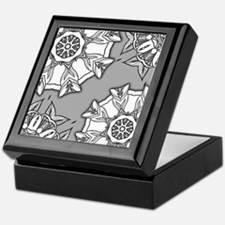 Unique Grayscale Keepsake Box