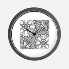 Funny Grayscale Wall Clock
