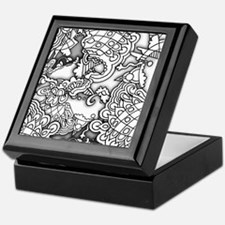 Cool Grayscale Keepsake Box