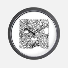 Unique Grayscale Wall Clock