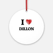 I Love Dillon Round Ornament