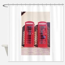 phone booth Shower Curtain