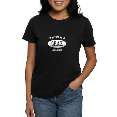 I'd Rather Be in Graz, Austri Women's Dark T-Shirt