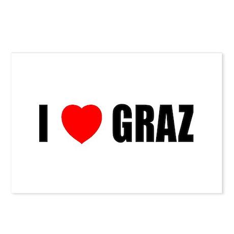 I Love Graz, Austria Postcards (Package of 8)