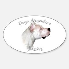 Dogo Mom2 Oval Decal