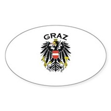 Graz, Austria Oval Decal