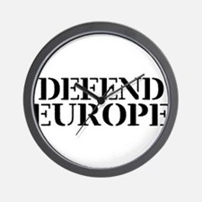 Defend Europe Wall Clock