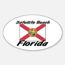 Satellite Beach Florida Oval Decal