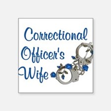 "Cute Correctional officer Square Sticker 3"" x 3"""