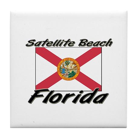 Satellite Beach Florida Tile Coaster