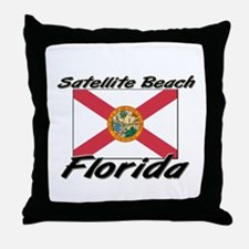 Satellite Beach Florida Throw Pillow