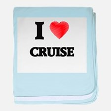 I Love Cruise baby blanket