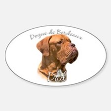 Dogue Dad2 Oval Decal