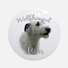 Wolfhound Mom2 Ornament (Round)