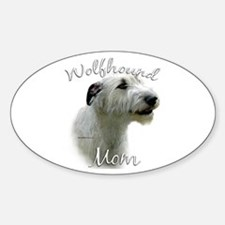 Wolfhound Mom2 Oval Decal