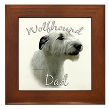 Wolfhound Dad2 Framed Tile
