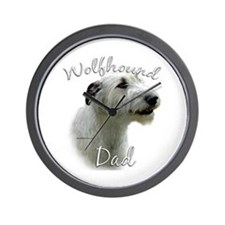 Wolfhound Dad2 Wall Clock