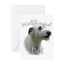 Wolfhound Dad2 Greeting Card