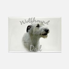 Wolfhound Dad2 Rectangle Magnet