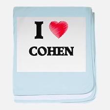 I Love Cohen baby blanket