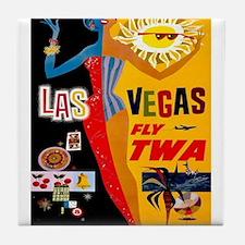Vintage poster - Las Vegas Tile Coaster