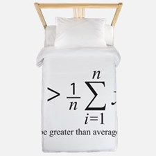 Be greater than average Twin Duvet