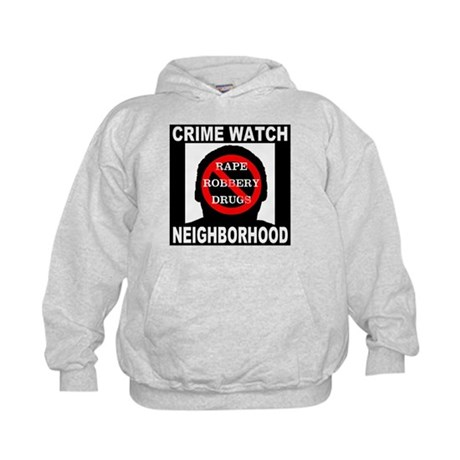 Crime Watch Neighborhood Kids Hoodie