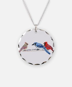 Birds in the Snow Necklace