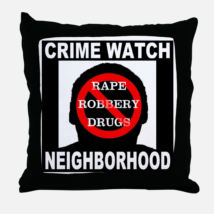 Crime Watch Neighborhood Throw Pillow