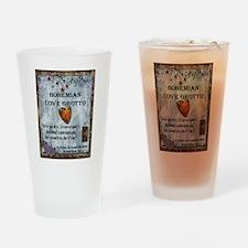 Bohemian Love Grotto Logo Drinking Glass
