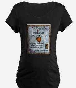 Bohemian Love Grotto Logo Maternity T-Shirt