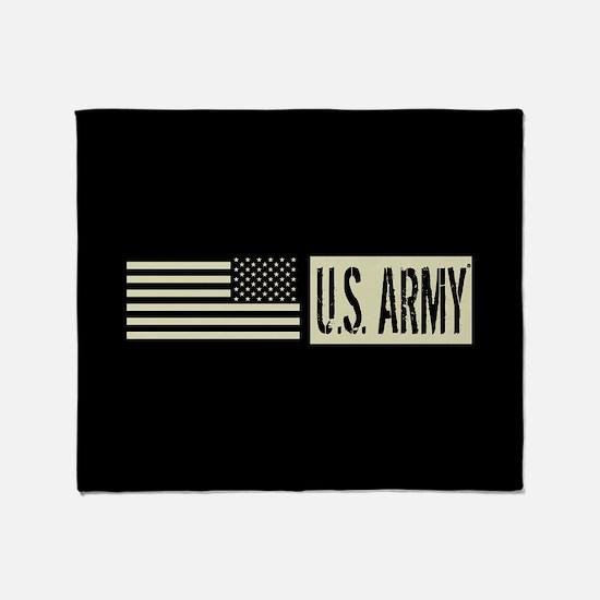 U.S. Army: U.S. Army (Black Flag) Throw Blanket