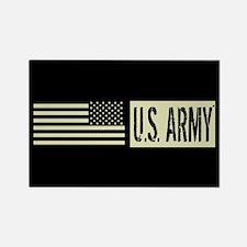 U.S. Army: U.S. Army (Black Flag) Rectangle Magnet