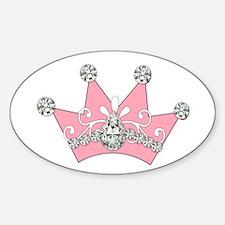 Princess Pink Crown Diamonds Decal
