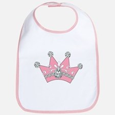 Princess Pink Crown Diamonds Bib