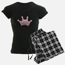 Princess Pink Crown Diamonds Pajamas