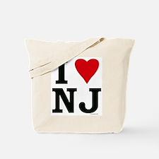 I Love NJ Tote Bag