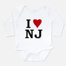 I love NJ Long Sleeve Infant Bodysuit