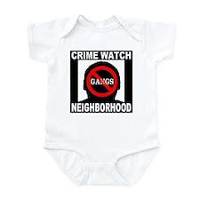 No Gangs Infant Bodysuit